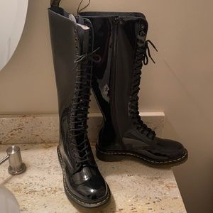Dr Martens Tall patent leather boots